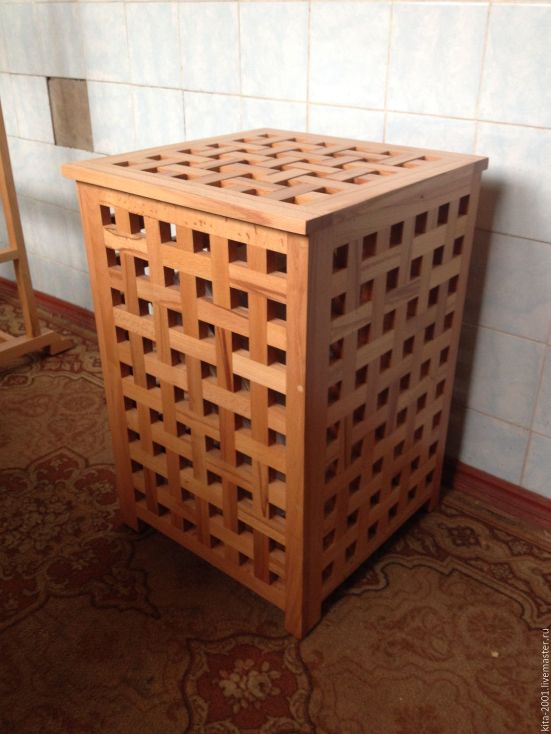 Basket Laundry Basket Made Of Solid Beech Wood Eco Style заказать на Ярмарке Мастеров