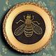 """Животные ручной работы. Ярмарка Мастеров - ручная работа. Купить Вышивка-филигрань """"Пчела"""". Handmade. Золотой, символ, пчела, эзотерика"""