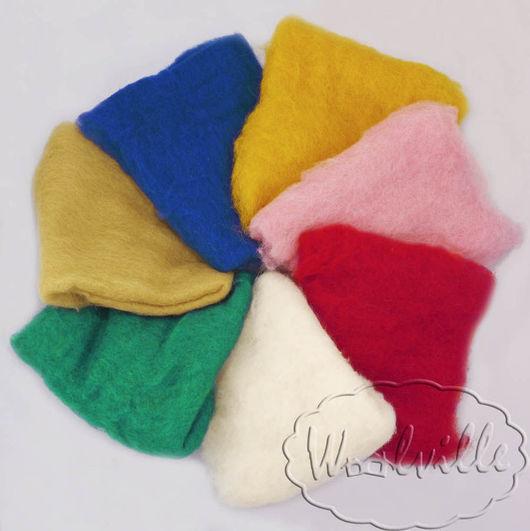 """Валяние ручной работы. Ярмарка Мастеров - ручная работа. Купить Набор шерсти """"Цветик-семицветик"""" 140 гр (набор шерсти для валяния). Handmade."""