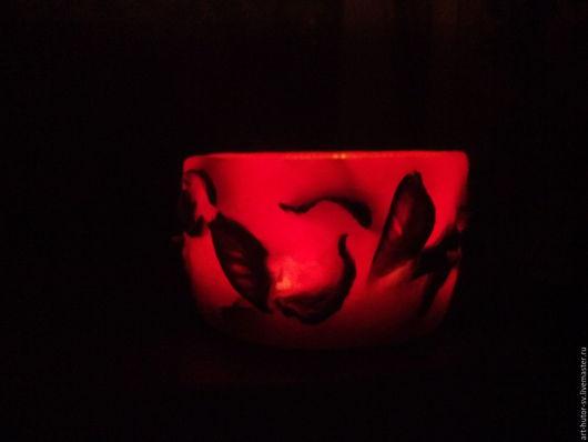 """Свечи ручной работы. Ярмарка Мастеров - ручная работа. Купить """"Огненный вихрь"""". Ароматический подсвечник. Handmade. Свеча, подарок женщине"""