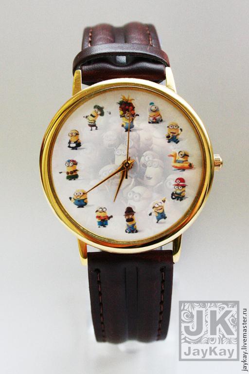 """Часы ручной работы. Ярмарка Мастеров - ручная работа. Купить Часы наручные JK """"Миньоны"""". Handmade. Миньон, золотой"""
