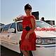 """Платья ручной работы. Ярмарка Мастеров - ручная работа. Купить Вязанное платье крючком, """"Красный ажур"""". Handmade. Платье летнее"""