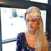"""Украшения ручной работы. Ярмарка Мастеров - ручная работа """"Цветущий лен""""- ободок-украшение для волос. Handmade."""