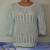 Одежда ручной работы. Ярмарка Мастеров - ручная работа Пуловер ажурный. Handmade.