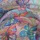 Шейный платок `Полёт`, натуральный шёлк, 60-60 см., расписан в технике- холодный батик.