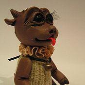 """Куклы и игрушки ручной работы. Ярмарка Мастеров - ручная работа Зверушка - """"Коза-кокетка"""". Handmade."""
