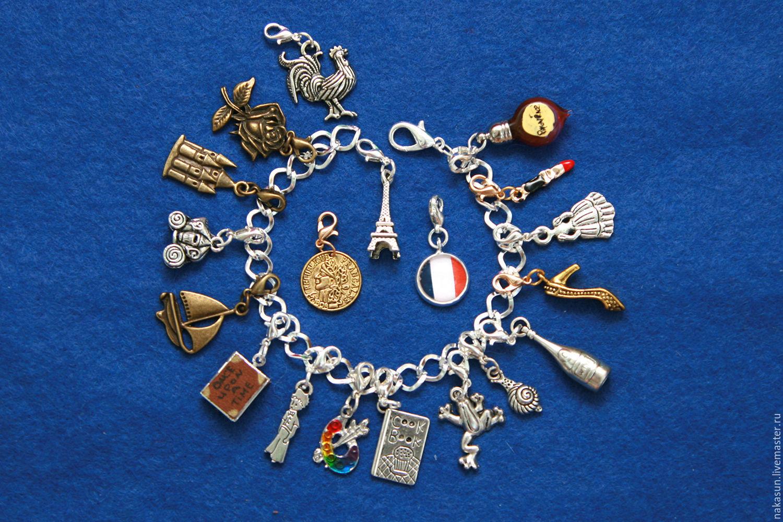 Франция браслет (19 кулонов), Браслеты, Москва, Фото №1