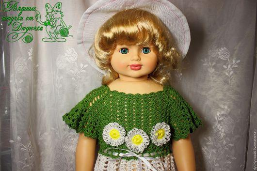Одежда для девочек, ручной работы. Ярмарка Мастеров - ручная работа. Купить Летнее платье девочку с ромашками вязаное крючком. Handmade.
