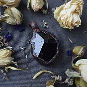 Украшения handmade. Livemaster - original item Copper pendant with black tourmaline ( sherl). Handmade.