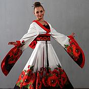 Одежда ручной работы. Ярмарка Мастеров - ручная работа Кимоно для японского танца. Handmade.