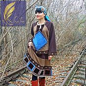 Одежда handmade. Livemaster - original item Women`s BOHO suit made from woolen knitwear and leather (379). Handmade.