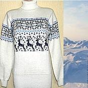 Одежда ручной работы. Ярмарка Мастеров - ручная работа Вязаный свитер с норвежским орнаментом Север. Handmade.