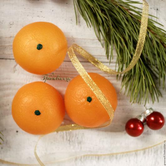 Мыло ручной работы. Ярмарка Мастеров - ручная работа. Купить Ароматный мандарин. Handmade. Оранжевый, подарок на новый год, сюрприз