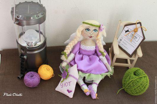 Коллекционные куклы ручной работы. Ярмарка Мастеров - ручная работа. Купить Лавандовый ангел- хранитель домашнего уюта. Handmade. Сиреневый