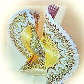 Народные сувениры ручной работы. Ярмарка Мастеров - ручная работа Птица счастья Золотая песня, домашний оберег, дерево роспись. Handmade.