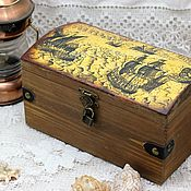 Для дома и интерьера handmade. Livemaster - original item Sea pirate box-chest for storage, gift. Handmade.