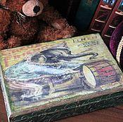 """Для дома и интерьера ручной работы. Ярмарка Мастеров - ручная работа Шкатулка""""Старый цирк"""". Handmade."""
