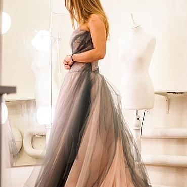 """Свадебный салон ручной работы. Ярмарка Мастеров - ручная работа Свадебное платье """"Сизо-розовое"""". Handmade."""