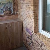 Дизайн и реклама ручной работы. Ярмарка Мастеров - ручная работа Роспись балкона Прованс. Handmade.