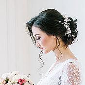 Свадебный салон ручной работы. Ярмарка Мастеров - ручная работа Цветочный венок повязка для свадебной прически. Handmade.