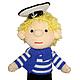 """Человечки ручной работы. Ярмарка Мастеров - ручная работа. Купить Кукла """"Морячок"""". Handmade. Синий, Вязание крючком, вязание на заказ"""