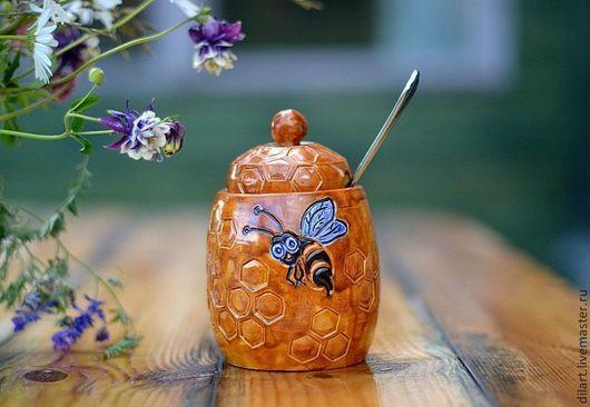 медовница медница горшочек для меда Керамика Dilь_art подарочная посуда красивая кухня подарок на кухню подарки к чаю горшок для меда сахарница посуда в подарок необычный подарок на кухню