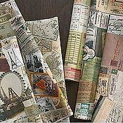 """Материалы для творчества ручной работы. Ярмарка Мастеров - ручная работа Ткань """"Vintage collage"""", 5 видов. Handmade."""