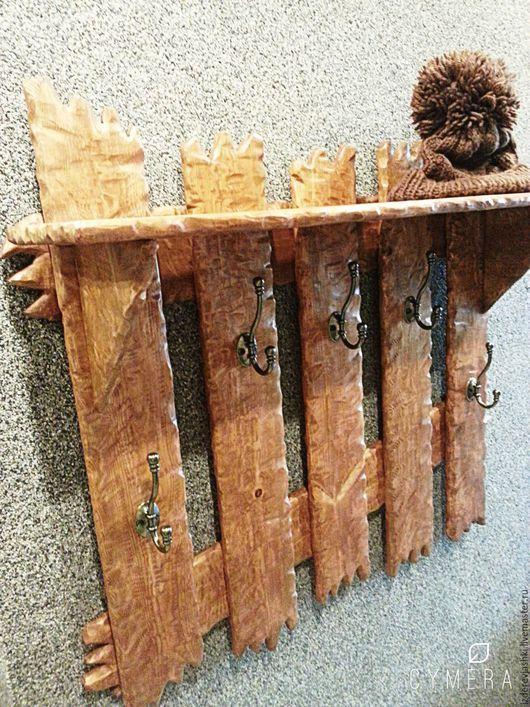 Прихожая ручной работы. Ярмарка Мастеров - ручная работа. Купить Вешалка настенная из массива дерева. Handmade. Комбинированный, вешалка в прихожую