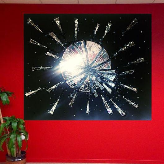 Абстракция ручной работы. Ярмарка Мастеров - ручная работа. Купить Star Shine. Handmade. Черный, картина в подарок, панно, цветы