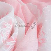 """Аксессуары handmade. Livemaster - original item Льняной  женский палантин из ткани Chanel """"Мечты из роз"""" розовый. Handmade."""