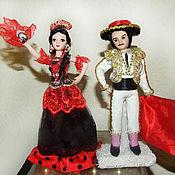 Куклы и игрушки handmade. Livemaster - original item Spaniard and Spaniard - porcelain dolls. Handmade.