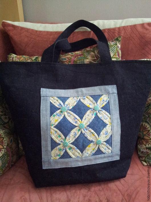 Женские сумки ручной работы. Ярмарка Мастеров - ручная работа. Купить Сумка джинсовая. Handmade. Тёмно-синий, сумочка, джинса