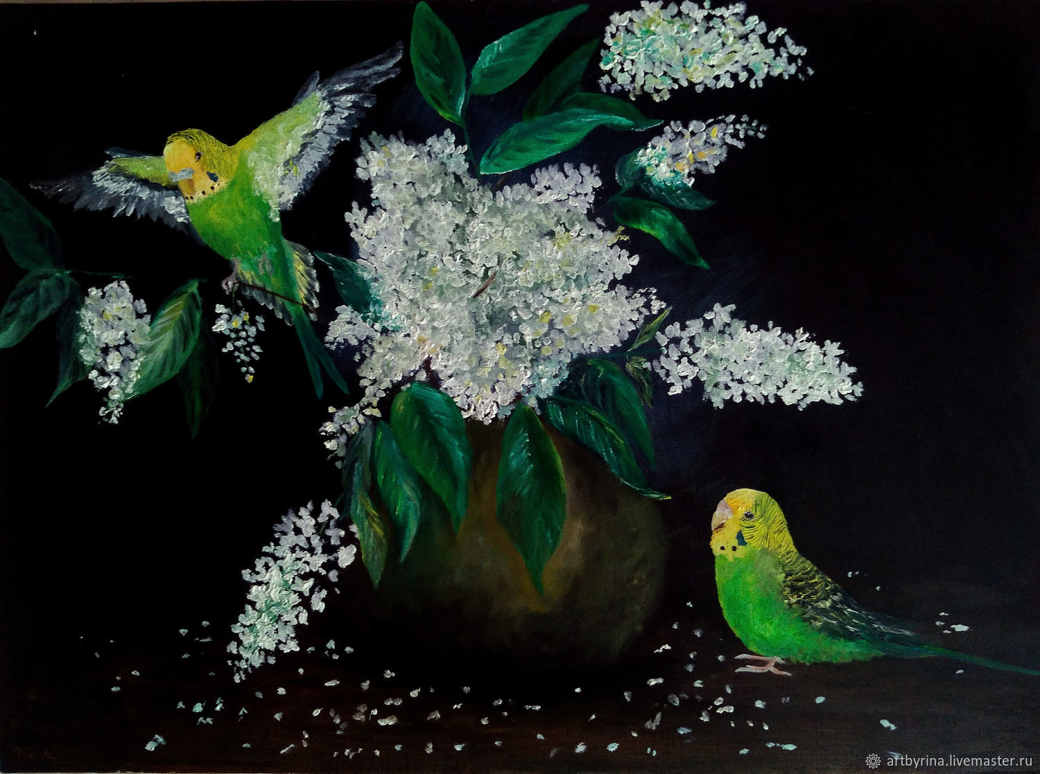 Bird cherry (oil on canvas, the picture is framed in a baguette), Pictures, Ryazan,  Фото №1