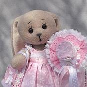 Куклы и игрушки ручной работы. Ярмарка Мастеров - ручная работа Розовая зайка Карамелька. Handmade.