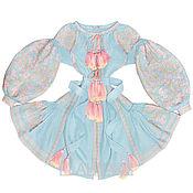 "Одежда handmade. Livemaster - original item Blue short dress with wedges ""Elusive Dream"". Handmade."