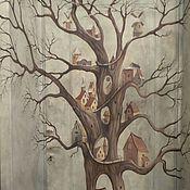 Дизайн и реклама ручной работы. Ярмарка Мастеров - ручная работа Роспись входной двери двери Дерево. Handmade.