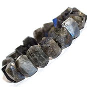 Украшения handmade. Livemaster - original item Large bracelet made of natural stone Labrador. Handmade.