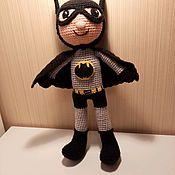 Мягкие игрушки ручной работы. Ярмарка Мастеров - ручная работа Вязаная игрушка Бетмен. Handmade.