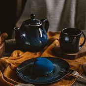 Посуда handmade. Livemaster - original item Plates: oval plate 19,5 cm. Handmade.