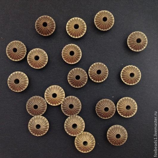 Для украшений ручной работы. Ярмарка Мастеров - ручная работа. Купить Бусины из латуни. 10,5х6 мм. Handmade. Бусины