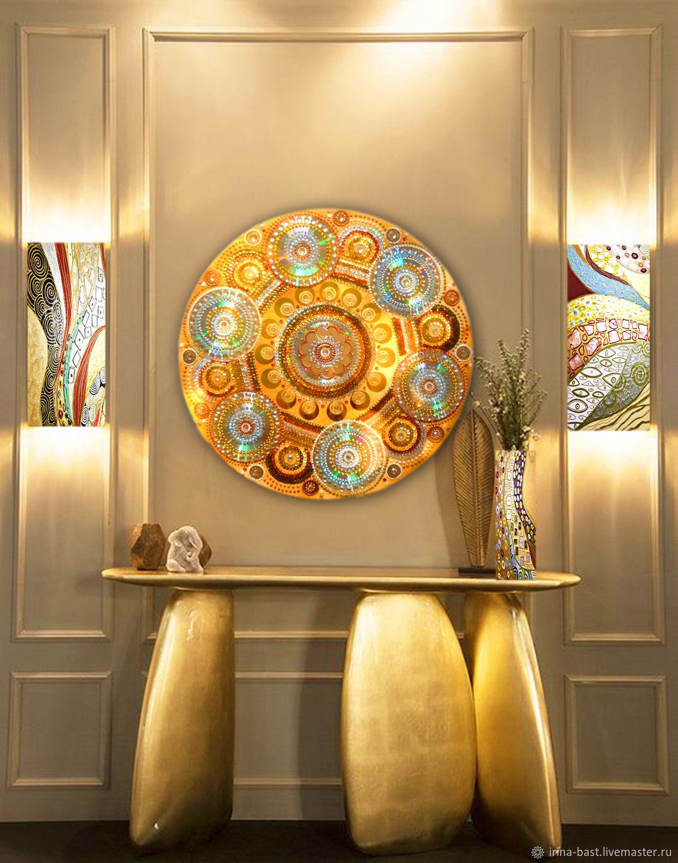 Bulk gold pattern Kaleidoscope. The evening sun, Pictures, St. Petersburg,  Фото №1