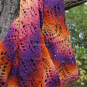 Аксессуары handmade. Livemaster - original item Fire pure wool shawl. Handmade.