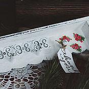 Для дома и интерьера ручной работы. Ярмарка Мастеров - ручная работа Полочка-вешалка в технике декупаж «Roses». Handmade.