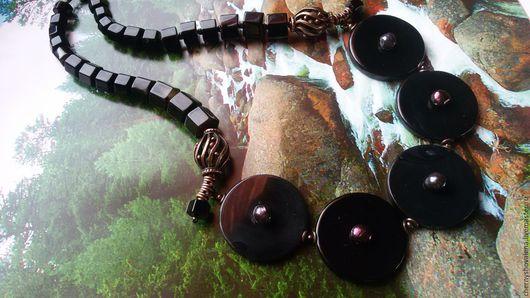 """Колье, бусы ручной работы. Ярмарка Мастеров - ручная работа. Купить Колье""""Black art"""". Handmade. Черный, купить подарок"""