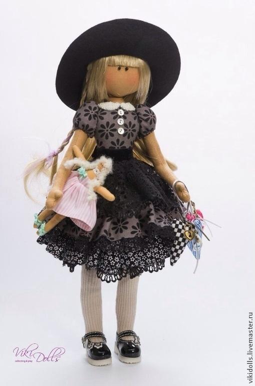 Человечки ручной работы. Ярмарка Мастеров - ручная работа. Купить Кукла-Тильда 'Черный лебедь' mini. Ед. экз.. Handmade.