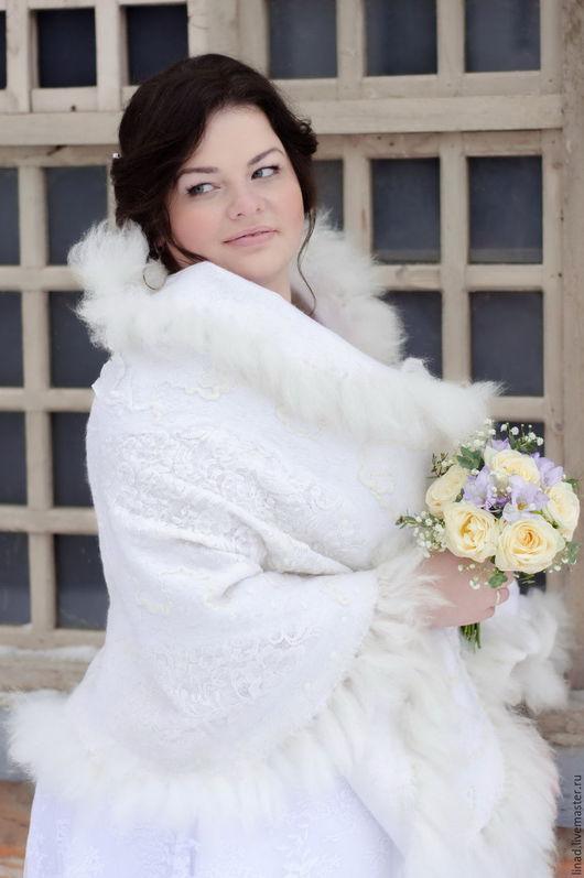 """Шали, палантины ручной работы. Ярмарка Мастеров - ручная работа. Купить Палантин """"Белая королева"""". Handmade. Белый, шаль, свадьба"""
