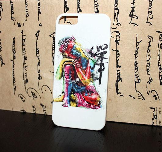 Для телефонов ручной работы. Ярмарка Мастеров - ручная работа. Купить Чехол Спящий Будда на iPhone 5/5s. Handmade. Рисунок