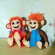 Куклы и игрушки ручной работы. Ярмарка Мастеров - ручная работа Огненные мартышки Мартын и Аришка, игрушки в стиле Тедди. Handmade.
