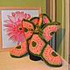 Обувь ручной работы. Заказать Вязаные домашние тапочки-сапожки. Добро СПб Ксения. Ярмарка Мастеров. Зеленый, разноцветный