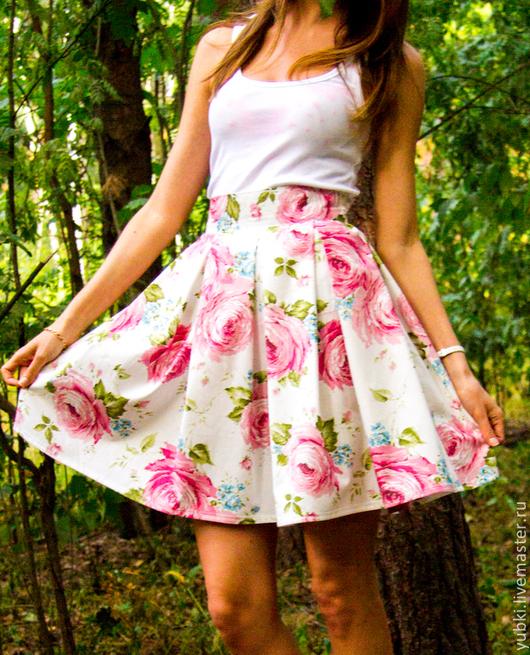 Юбки ручной работы. Ярмарка Мастеров - ручная работа. Купить Пышная юбка. Handmade. Цветочный, юбка летняя, юбка для девушки